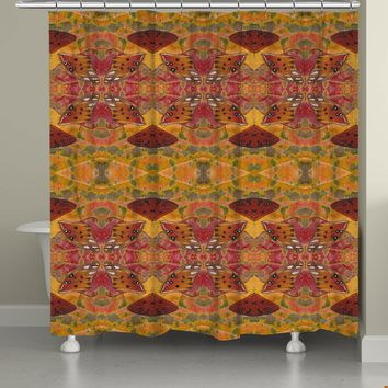 Butterfly Crepe Myrtle Shower Curtain