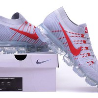 """""""Nike Air VaporMax"""" Unisex Sport Casual Fly Knit Air Cushion Sneakers Couple Running Shoes"""
