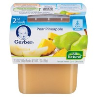 Gerber Baby 2nd Foods Pear Pineapple 3.5 oz 2 pk