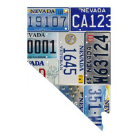 Nevada License Plate wall decal