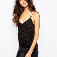 River Island Heavily Embellished Cami Top