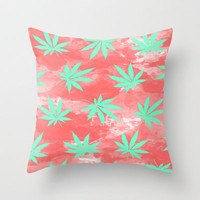 Bloom Deux Throw Pillow by Bri Delasole | Society6
