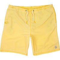 River Island MensYellow mid length swim trunks