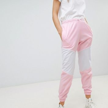 ASOS DESIGN Track Pants With Panneling And Bungee Toggles at asos.com