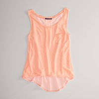 AE Feather Light Sheer Back Tank | American Eagle Outfitters