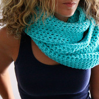 Infinity cowl mint cold weather fashion, Calypso Cowl, under 50