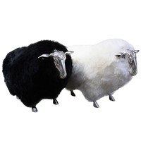 French Sheep Stools in the style of Lalanne