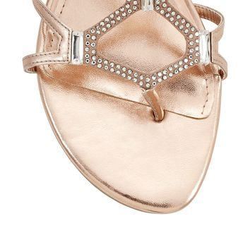 White House | Black Market Rose Gold Gladiator Sandals