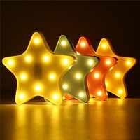 Cute Star LED Night Light Wall Battery Lamp Baby Kids Bedroom Home Decor