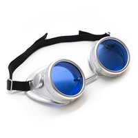 Plastic Silver Goggles | Cyber Rave Burner Goggles from RaveReady