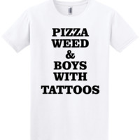 Pizza weed & boys with tattos t shirt