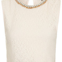 Necklace Lace Crop Top - Lace  - New In