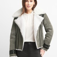 Suede shearling jacket | Gap