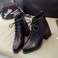 ca PEAPTM4 On Sale Hot Deal Zippers Dr. Martens Pointed Toe High Heel Korean Stylish Boots [11192771655]