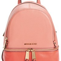MICHAEL Michael Kors 'Extra Small Rhea' Colorblock Leather Backpack | Nordstrom