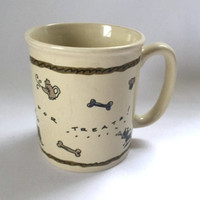 Dogs Coffee Mug Cup Always Hold Out For Treats Bisquits Three Dog Bakery Vintage