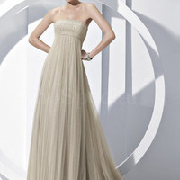Charming A-line Strapless Court Train Prom Dress from SinoSpecial