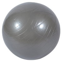 85CM Explosion-proof Fitness Yoga Exercise Ball with Air Pump Silver-gray
