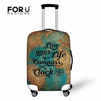 FORUDESIGNS Fashion Printing Luggage Protective Cover to 18-30 Travel Suitcase,Dust Cover Elastic Waterproof Accessories Covers