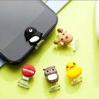 35%OFF 2 in 1 Yellow Duck Ninja Penguin Deer Owl Lightning Data Port Dust Plug Home Button iPhone 4 4S 5 5C 5S iPad 4 Mini iPod Touch 5
