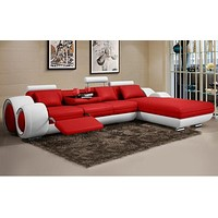 Minimalist Luxury Modern L Shaped Leather Sofa