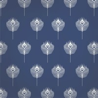 peacock feathers wall decal set