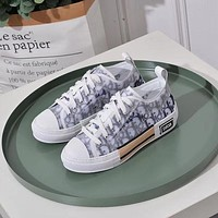 Dior Women Leather Fashion Sneakers Shoes