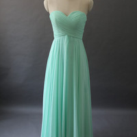 Cheap 2014 New Arrival A-Line Sweetheart Chiffon Long Prom dresses/Long Evening Dresses/Long Evening Gowns Bridesmaid dresses in Handmade