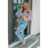 Perfect Flower Cropped Top: Multi