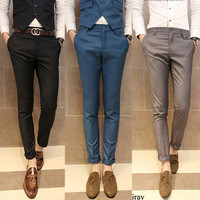 Slim Fit Modern Men Style Dress Pants