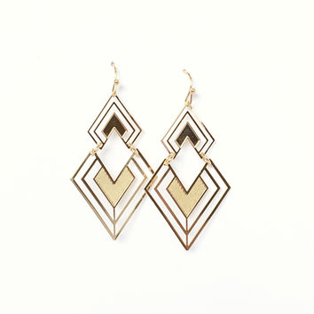 Rock It Earrings In Gold