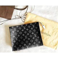 Louis Vuitton LV hot seller of men's and women's handbags, business wallets and briefcases LV pattern Black