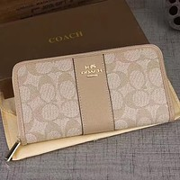 COACH Women Fashion Wallet Purse Clutch Bag Leather Tote Handbag
