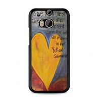 Yellow Submarine Beatles Song Lyrics Canvas For HTC One M8 case