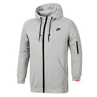 Nike Men Fashion Casual Cardigan Jacket Coat