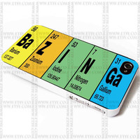 Bazinga Periodic Table Big Bang - iPhone Case 4/4S, 5/5S, 5C and Samsung Galaxy S3, S4 Case.