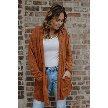 Simply Irresistible Cardigan - Pumpkin
