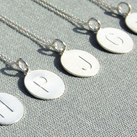 Sterling Silver Large Initial Necklaces