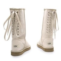 UGG Women Fashion Strappy Leather Winter Half Boots Shoes-1