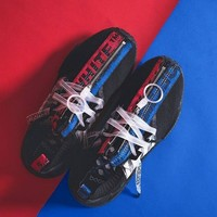 """OFF-WHITE x adidas Originals NMD R1 Running Shoes""""Black Red Blue""""BA8860"""