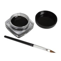 Sannysis(TM) 1PC Elegent Charming Eyeliner Gel Cream With Brush Makeup Black Waterproof Eye Liner