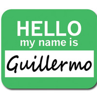 Guillermo Hello My Name Is Mouse Pad