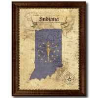 Indiana State Vintage Map Home Decor Wall Art Office Decoration Gift Ideas