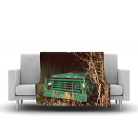 "Angie Turner ""Ford"" Teal Car Fleece Throw Blanket"