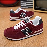 """""""New Balance"""" Fashion Casual All-match N Words Breathable Couple Sneakers Shoes Red"""