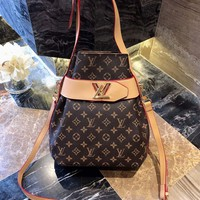 HCXX 19Sep 962 Louis Vuitton LV Shoulder Strap Crossbody Pouch Neonoe Drawstring Bag 28-30cm