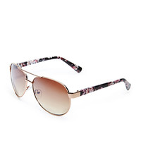 Rose Printed Aviator Sunglasses