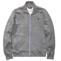 Undefeated: Double Knit Full Zip Jacket - Grey Heather