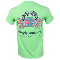 Simply Southern Youth Crab T-Shirt - Mint Green