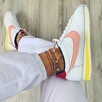 Nike Nike Classic Cortez Forrest Series White+Pink hook(blue internal)
